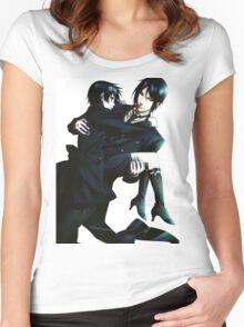 Black Butler - Sebastian and Ciel Women's Fitted Scoop T-Shirt
