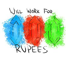 Will Work for Rupees Photographic Print