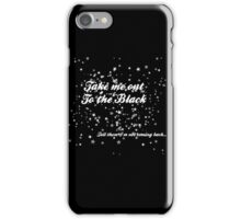 The Black in White iPhone Case/Skin