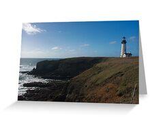 Yaquina Head Lighthouse, Oregon Greeting Card