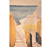 Streets of Corfu Photographic Print