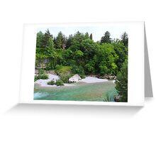 The River Runs Through It Greeting Card