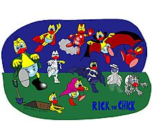 """Rick the chick """"MONSTERS AND SUPERHEROES"""" Photographic Print"""