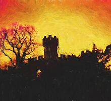 Warwick Castle - Ethelfleda's Mound by Donna Macarone