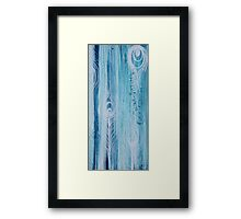 Peacock Feathers Aqua Series  Framed Print
