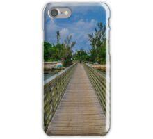 the railway trail walk way Baileys Bay Bermuda.. iPhone Case/Skin