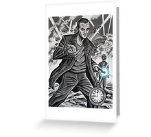 The Ninth Doctor Greeting Card