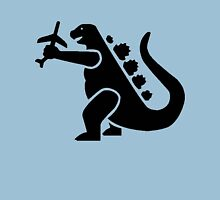 Godzilla Crushing Plane Unisex T-Shirt
