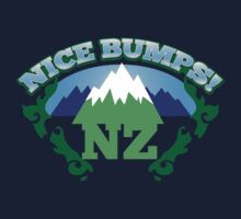 NEW ZEALAND map with NZ NICE BUMPS One Piece - Short Sleeve