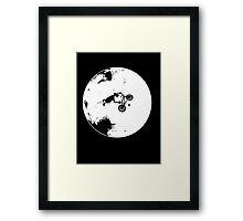ET Extraterrestrial Moon BMX Trick Framed Print