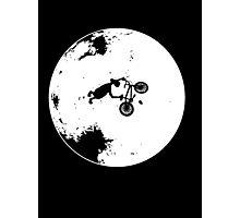 ET Extraterrestrial Moon BMX Trick Photographic Print