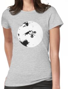 ET Extraterrestrial Moon BMX Trick Womens Fitted T-Shirt