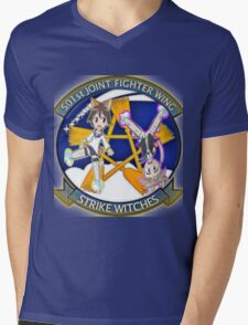 501st Joint Fighter Wing Yoshika and Lynette Mens V-Neck T-Shirt
