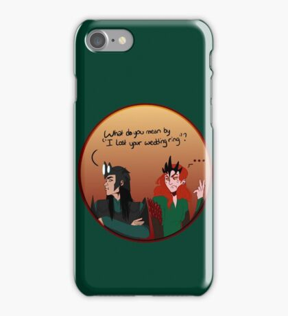 Melkor and sauron lost a ring iPhone Case/Skin
