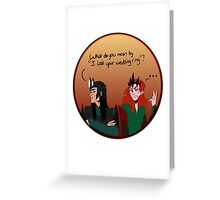 Melkor and sauron lost a ring Greeting Card