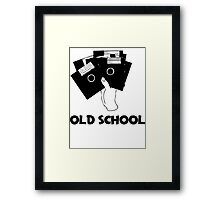 Retro Old School Floppy Disk Framed Print