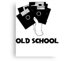 Retro Old School Floppy Disk Canvas Print