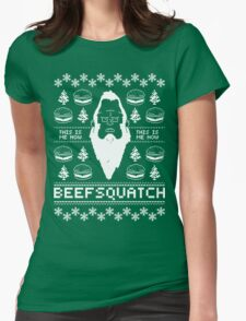 Ugly Holiday - Beefsquatch Womens Fitted T-Shirt