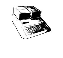 Vintage Retro Apple II Computer Stencil Photographic Print