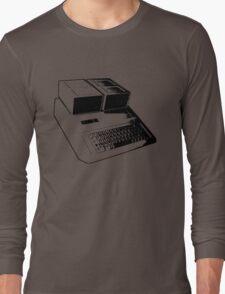 Vintage Retro Apple II Computer Stencil Long Sleeve T-Shirt
