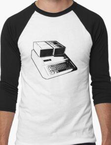Vintage Retro Apple II Computer Stencil Men's Baseball ¾ T-Shirt