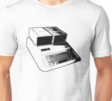 Vintage Retro Apple II Computer Stencil Unisex T-Shirt