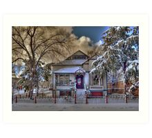 The Decorated Little House in The Snow Art Print