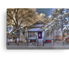 The Decorated Little House in The Snow Metal Print