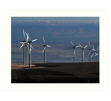 Wind Mills of Eastern Washington Art Print