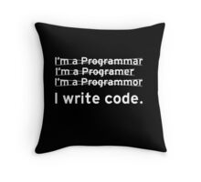 I Write Computer Code Throw Pillow