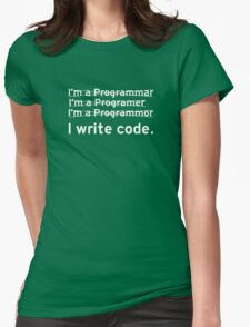 I Write Computer Code Womens Fitted T-Shirt