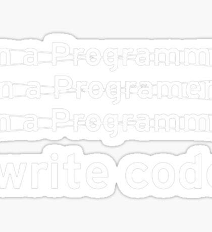 I Write Computer Code Sticker