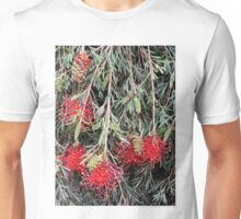 Weeping Grevillea - Ruby Red Unisex T-Shirt