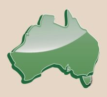 Australia Map simple in green by jazzydevil
