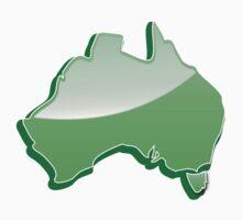 Australia Map simple in green Kids Tee