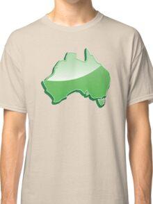 Australia Map simple in green Classic T-Shirt