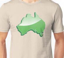 Australia Map simple in green Unisex T-Shirt