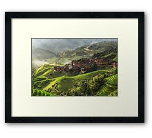 The valley of dragons Framed Print