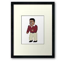 8-BIT Carlton Framed Print