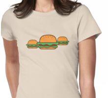 Three hamburgers Womens Fitted T-Shirt