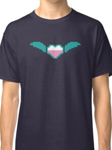 Digital gamer heart with flying wings Classic T-Shirt