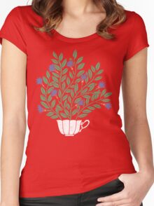 A Cup of Tea (Jasmine) Women's Fitted Scoop T-Shirt