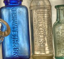 Old Medicine Bottles by Kim McClain Gregal