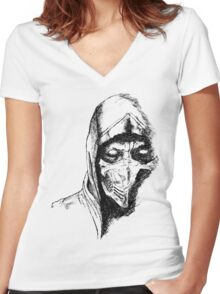 Scorpion Mortal Kombat X Women's Fitted V-Neck T-Shirt