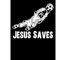 Jesus Saves Football Soccor Goalie Photographic Print