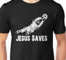 Jesus Saves Football Soccor Goalie Unisex T-Shirt