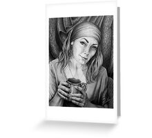 In acceptance lieth peace Greeting Card