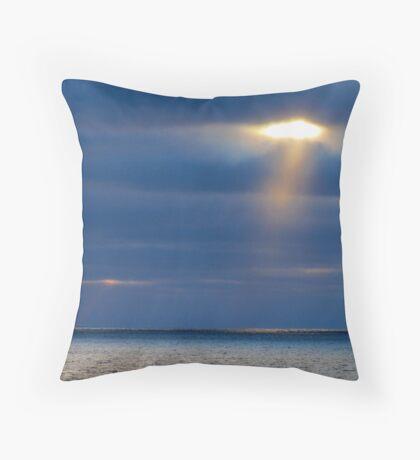 Sun Dogs on Lake Superior Throw Pillow