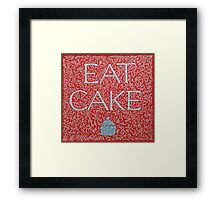 Eat Cake  Framed Print