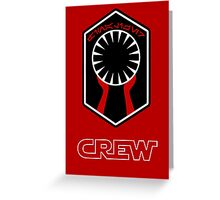 Star Wars Episode VII - The Finalizer (First Order) - Star Wars Veteran Series Greeting Card